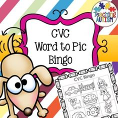 CVC Bingo, Group Game, Fun Activity, Word to PicThis activity is great to take part with small or large groups. You get the option of word only or pic only boards to choose from. 5 different boards in total - up to 5 players. Also includes flashcards for you to use to accompany the instruction/cvc word you are calling out - your choice if you would like to use them.Comes as black and white for ink friendly printing.