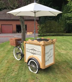 "Vintage "" Stop Me & Buy One !"" Traditional Ice Cream Bike Cart TriCycle Hire 