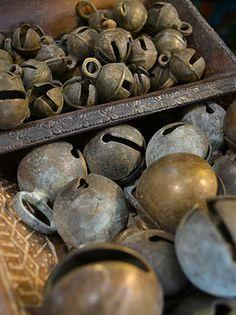 Antique brass bells from India Tierra Del Lagarto - Scottsdale Furniture Store | NEW ARRIVALS
