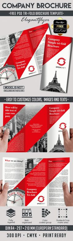 Free Fitness Tri Fold Brochure Design V02 Tri Fold Brochure