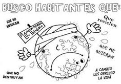 Resultado de imagen para dibujos de cuidado del medio ambiente para niños para colorear