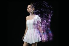 """Digital K-dress by CuteCircuit l With smart textiles we can """"download new colours or patterns"""" to our clothes."""