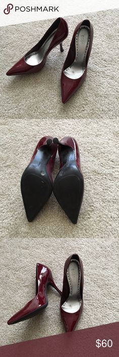 BCBGirls heels Beautiful wine red color heels in great gently used condition. Size 37.5/7.5. BCBGirls Shoes