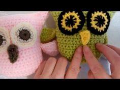 Part 4  Beak Plus Sewing Eyes How to Crochet an Owl Very Easy - YouTube