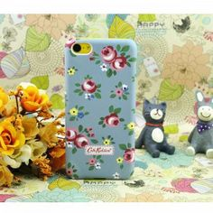 Cath Kidston Roses iPhone 5C Case - Grey Blue