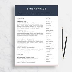 Resume Format Microsoft Cv Template Arthur  Resume Format  Cover Letter  In English And .