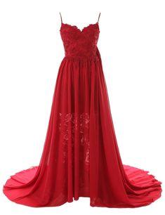Simple A-line Sweetheart Spaghetti Straps Chiffon Long Prom Dress/Evening Dress…