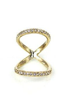 gold pave infinity ring ♥