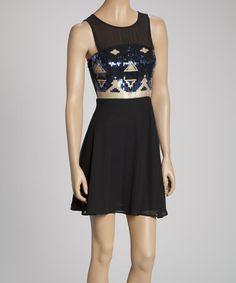 @Jordan Zelenenki need for vegas!  Love this Black Tribal Sleeveless Dress on #zulily! #zulilyfinds