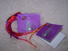 Bunny Gift Tags  Mini Cards by Marie Logston. by mariesimagination, $10.00