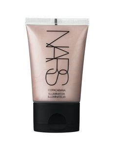 The 10 commandments of highlighting and contouring: Avoid sparkles at all costs (Nars Copacabana Illuminator is a glistening—not sparkly—light pink that mimics skin's texture)