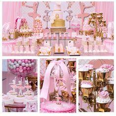 «Que festa bailarina linda! Os doces modelados foram um show à parte. #ideiasdebolosefestas #aniversario #festabailarina #festainfantil #festamenina…»