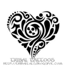 this is the next tattoo i want or something similar to it!!! heart tribal tattoos women - Google Search