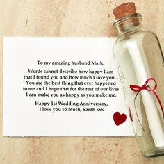 First Anniversary (Paper) Gift Ideas 1st Anniversary Gifts For Him, First Wedding Anniversary Gift, Marriage Anniversary, Birthday Gift For Him, Paper Anniversary, Sister Birthday, 1st Year Anniversary Gift Ideas For Him, 1st Anniversary Quotes, Anniversary Games