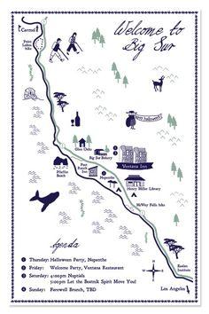 Big Sur - Wedding Maps