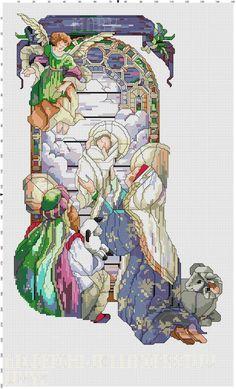 Nativity Christmas Stocking Pattern - No color key :(