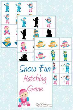 Snow Fun Matching Game Pack - Year Round Homeschooling