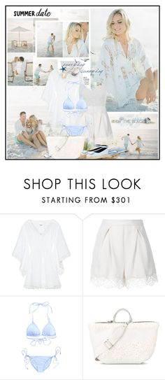 """""""Summer Date: The Beach"""" by katik27 ❤ liked on Polyvore featuring Talitha, Zimmermann, Melissa Odabash, Ermanno Scervino, Roger Vivier, beach and summerdate"""