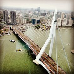"@edv89's photo: ""This is the view from #derotterdam, the #44floors high-rise at #rotterdam. Great day at the #wereldhavendagen"""