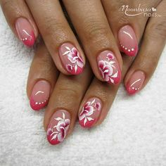 37 Ideas French Manicure With Flower One Stroke For 2019 French Manicure Designs, Nail Art Designs, Gel Manicure, Pedicure, Cute Nails, Pretty Nails, Finger Nail Art, Ring Finger, Nagellack Trends