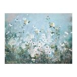 Spring Gardens Blue Canvas Art Print | Kirklands