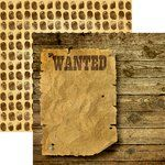 Reminisce - Police Collection - 12 x 12 Double Sided Paper - Wanted