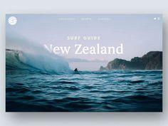 Surf Guide Scroll Distort Effect 🌊 by Nathan Riley for green chameleon on Dribbble Website Design Inspiration, Graphic Design Inspiration, Web Layout, Layout Design, Travel Website Design, Magazin Design, Surfer Surf, Interactive Design, Presentation Design