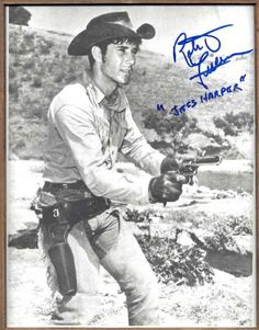 """I'd actually asked him to get one of Robert Fuller in the """"Emergency"""" tv show, but he instead got this of Robert Fuller from the """"Laramie"""" tv show. Great Tv Shows, Old Tv Shows, Laramie Tv Series, Robert Fuller Actor, The Rifleman, The Virginian, Tv Westerns, Famous Movies, Western Movies"""