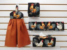 Rectangular and Square Tissue Box Covers Tissue Box Covers, Tissue Boxes, Color Terracota, Chicken Items, Ironing Board Covers, Chickens And Roosters, Flour Sack Towels, Covered Boxes, Dish Towels