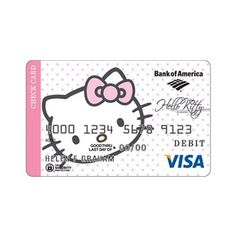 Hello Kitty! - My brother has this debit card. He's 24 years... ❤ liked on Polyvore