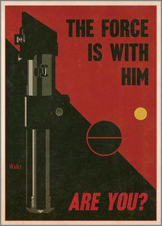 Russell Walks hace sus propias portadas de libros y pósters de Star Wars imitando un montón de estilos distintos. Versiona desde las típicas novelas románticas y se atreve con el característico estilo de los carteles hechos por Saúl Bass. …