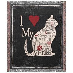 I HEART MY CAT THROW