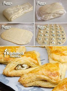 How to Make Full-sized Puff Pastry Dough Recipe at Home? Pastry Dough Recipe, Puff Pastry Dough, Choux Pastry, Delicious Cake Recipes, Yummy Cakes, Turkish Recipes, Greek Recipes, Wie Macht Man, Palmiers