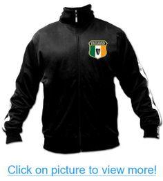Men's Ghast Ireland Soccer Track Jacket Black, Futbol Footall