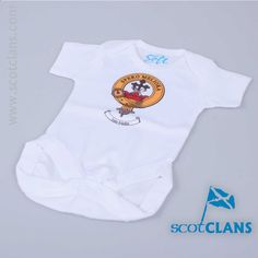 Moffat Clan Crest Baby Bodysuit. Free Worldwide Shipping Available