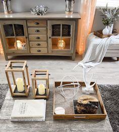Rustic living room winter decor