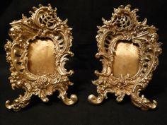 Paire de cadres photo style Louis XV-Rocaille du XIXe