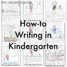 Writing instruction in Kindergarten can be overwhelming when you don't know where to start! Here's how I handle it and lots of examples!