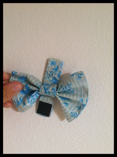 Polka-Dotted Pearl: Velcro dog bow-tie tutorial