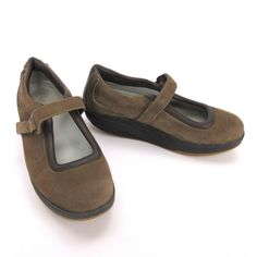 a9ac39401d37 MBT Womens Mary Jane 11 Kaya Brown Nubuck Suede Toning Rocker Walking Shoe   MBT  MaryJanes