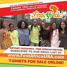 #TolumiDE The Afropolitan Youth Association (Non-Profit) hosts of @FestAfricaUSA would like to Thank all Attendees Vendors Entertainment Media Partners Promotions and Sponsors - Maryland State Arts Council Vomoz Kedu TV Ria Money Transfer TradPeek DJ CHICK and State Farm Agents - Stacy Tucker & Esther Ahiagbede Smith.  Special thanks to all who donated and bought FestAfrica T-Shirts. For continued support please visit us at FestAfricaUSA.com to SHOP at our online store #FestAfrica2017…
