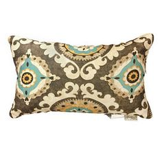 Suzani Blue and Brown Pillow - 14X20