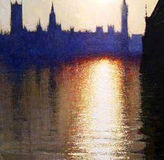 View towards Battersea from Albert Embankment I, Andrew Gifford, 2009