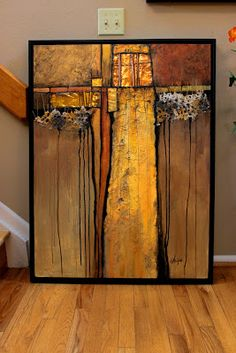 "Mixed Media Artists International: ""Tapestry"" mixed media contemporary abstract by Carol Nelson"