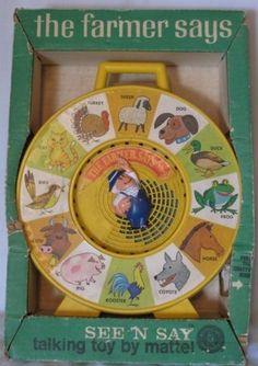 MATTEL: 1964 See 'N Say - The Farmer Says #Vintage #Toys