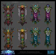 ArtStation - Tauren and Night Elf banners Heroes of the Storm, David Harrington
