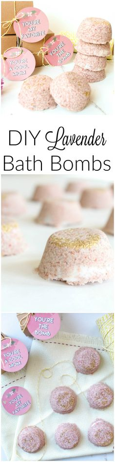 The Perfect Mother's Day Gift: DIY Bath Bombs DIY Lavender Bath Bomb! Diy Gifts For Mothers, Mothers Day Crafts, Mother Day Gifts, Diy Mother's Day Crafts, Mother's Day Diy, Youre The Bomb, Belleza Diy, Fun Craft, Bath Recipes