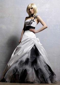White Black Masquerade Ball Gown Wedding Dress Quinceanera Dress Free Collar New | eBay