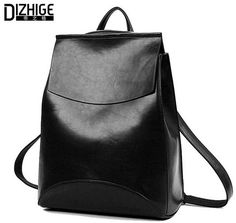 Vintage backpack Women Pu leather Bags Satchel Backpack 56b106160abc2