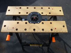 Multi-Tool Stand : 3 Steps (with Pictures) - Instructables Cool Woodworking Projects, Router Woodworking, Learn Woodworking, Woodworking Workshop, Diy Wood Projects, Diy Router Table, Portable Workbench, Router Tool, Tool Stand